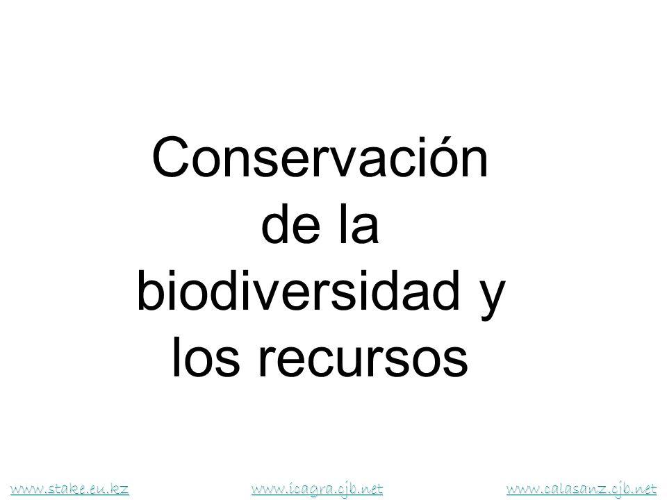 Conservación de la biodiversidad y los recursos