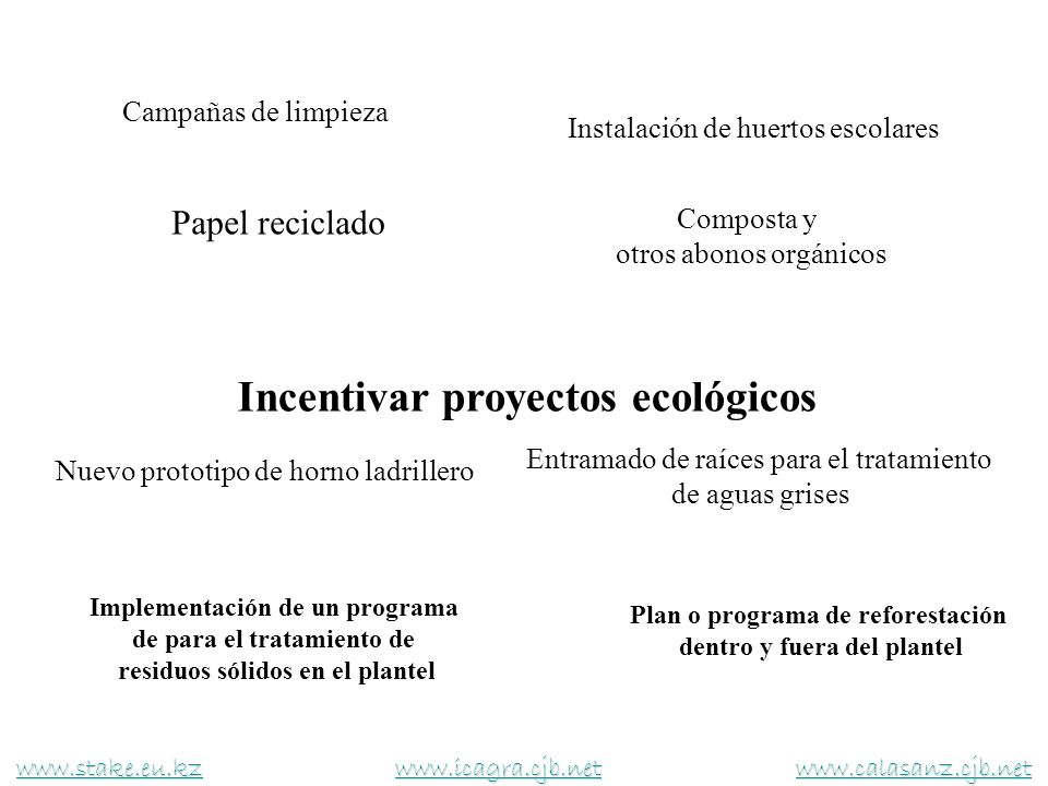 Incentivar proyectos ecológicos