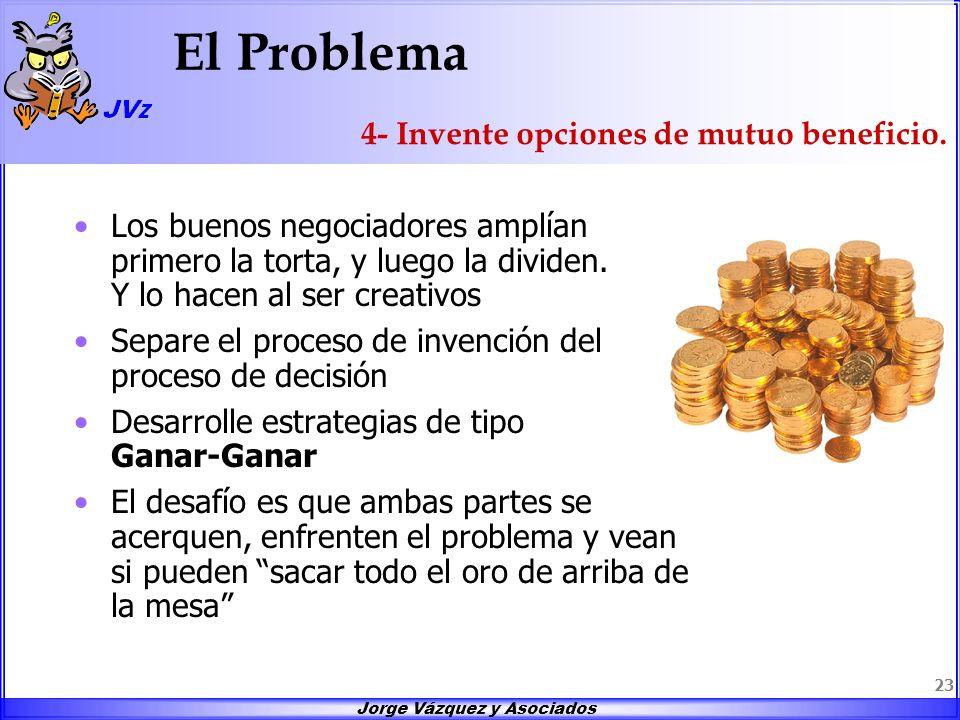 El Problema 4- Invente opciones de mutuo beneficio.