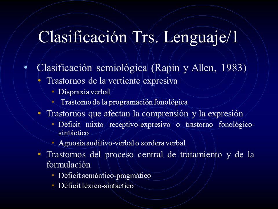 Clasificación Trs. Lenguaje/1