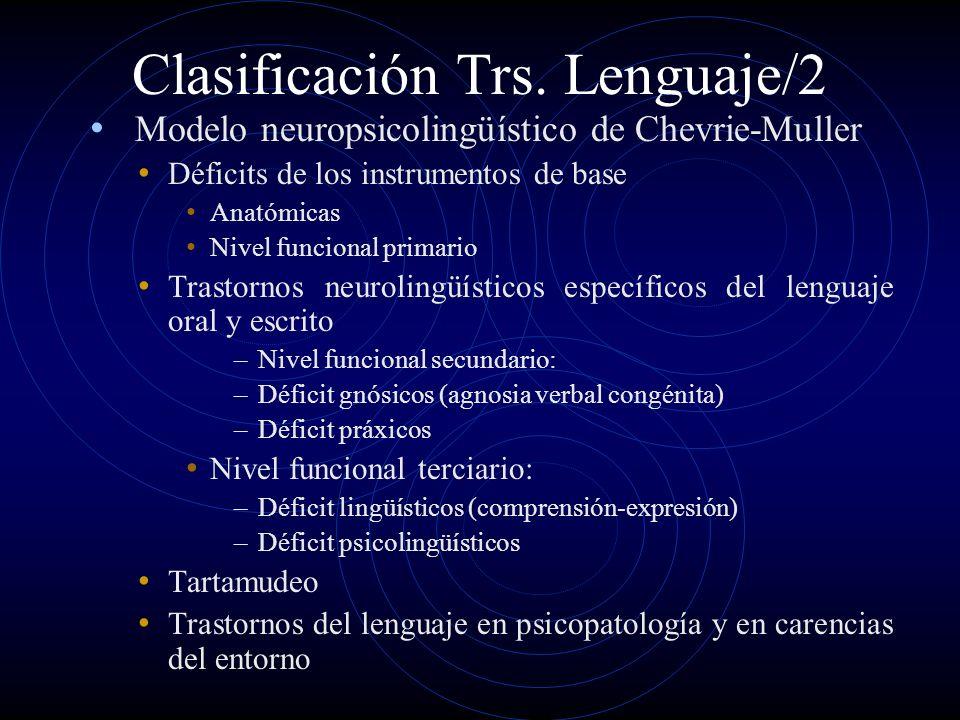 Clasificación Trs. Lenguaje/2