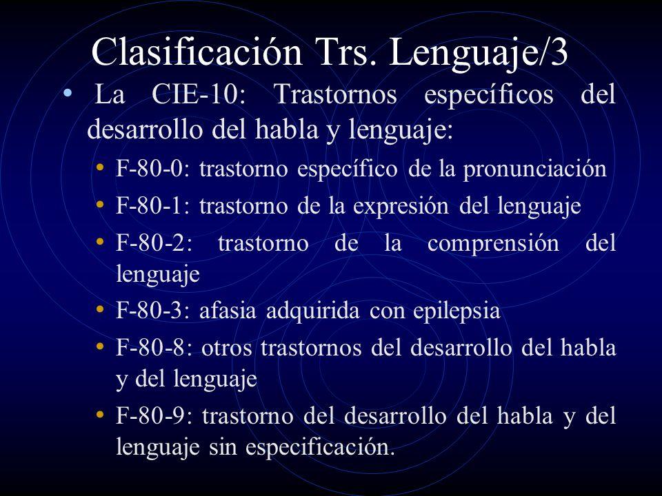 Clasificación Trs. Lenguaje/3