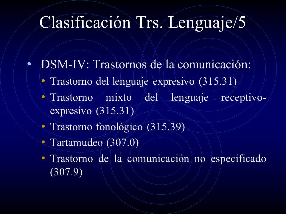 Clasificación Trs. Lenguaje/5