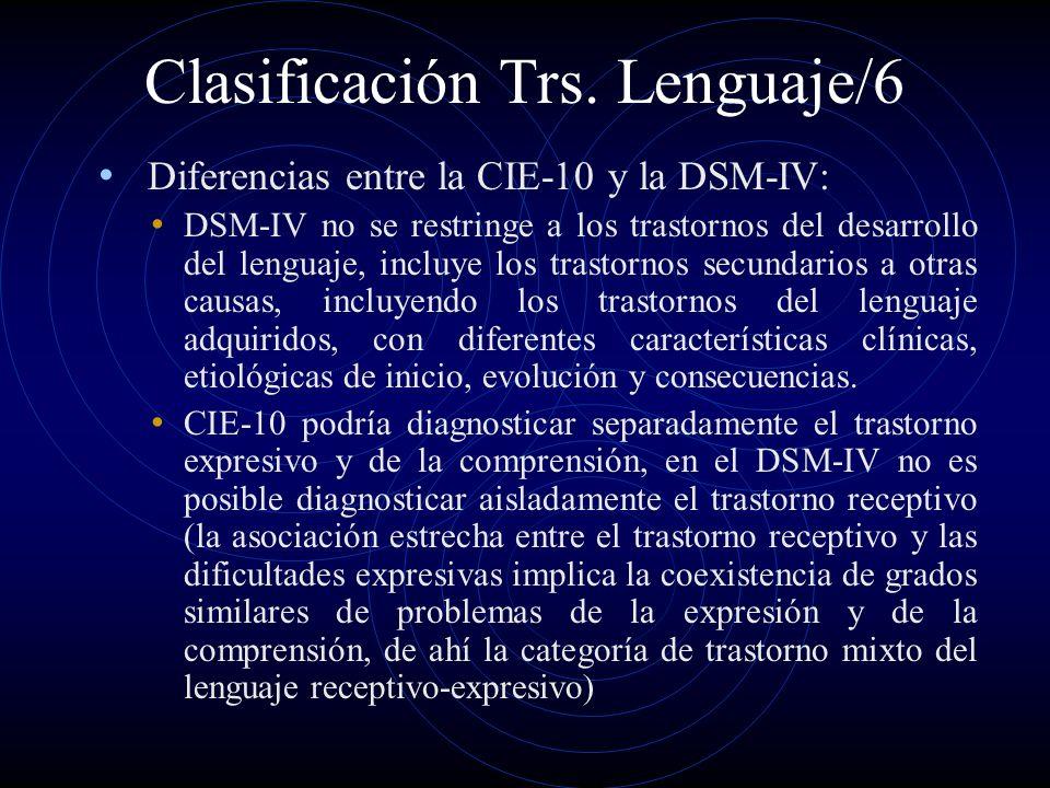 Clasificación Trs. Lenguaje/6