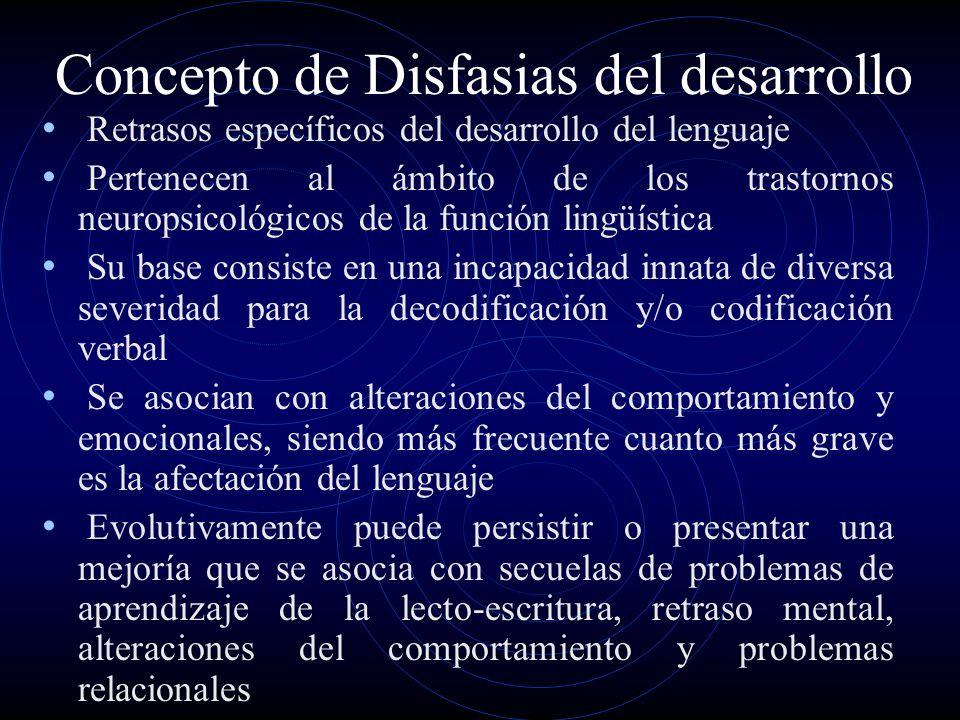Concepto de Disfasias del desarrollo