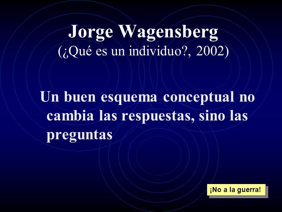Jorge Wagensberg (¿Qué es un individuo , 2002)