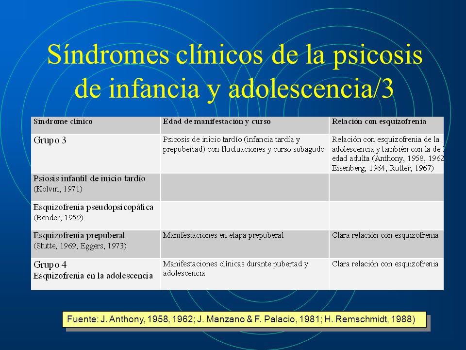 Síndromes clínicos de la psicosis de infancia y adolescencia/3