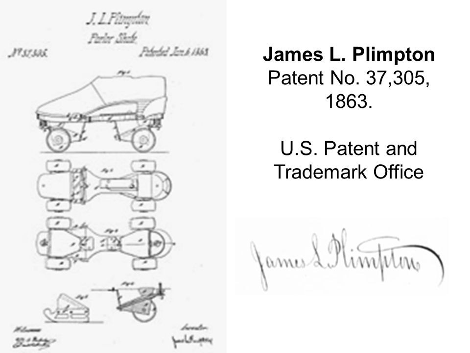 James L. Plimpton Patent No. 37,305, 1863. U. S