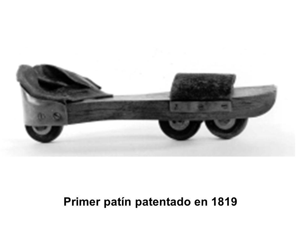 Primer patín patentado en 1819