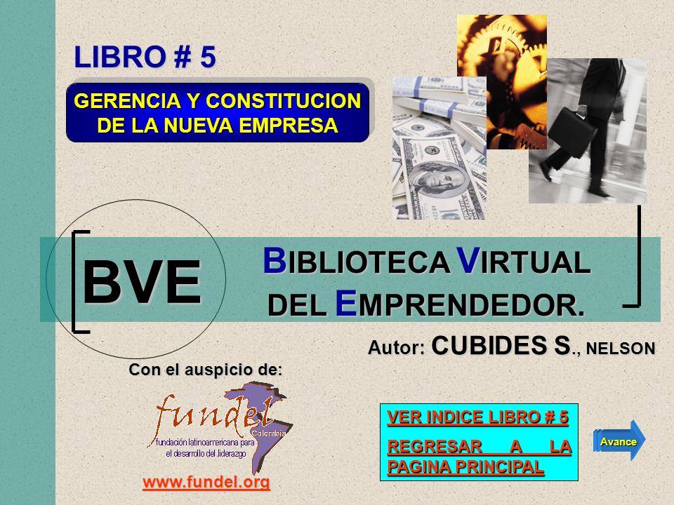 GERENCIA Y CONSTITUCION BIBLIOTECA VIRTUAL DEL EMPRENDEDOR.