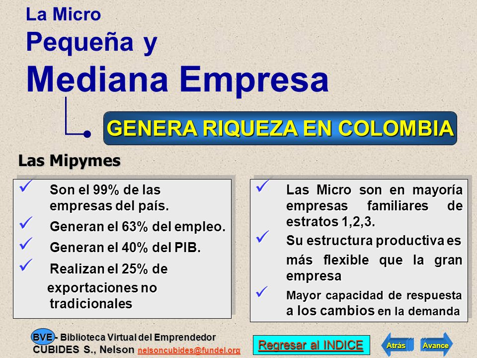 GENERA RIQUEZA EN COLOMBIA