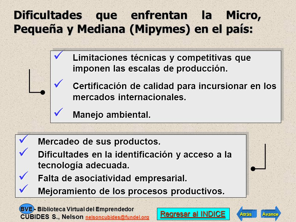 Dificultades que enfrentan la Micro, Pequeña y Mediana (Mipymes) en el país: