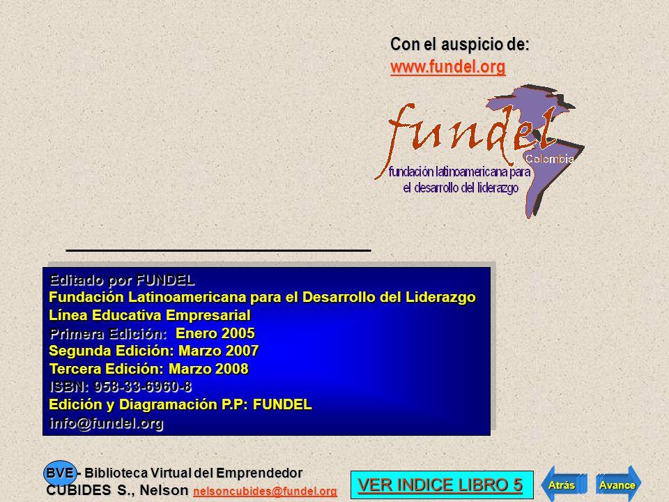 Con el auspicio de: www.fundel.org VER INDICE LIBRO 5