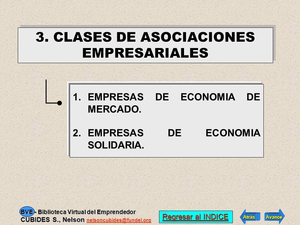 3. CLASES DE ASOCIACIONES EMPRESARIALES