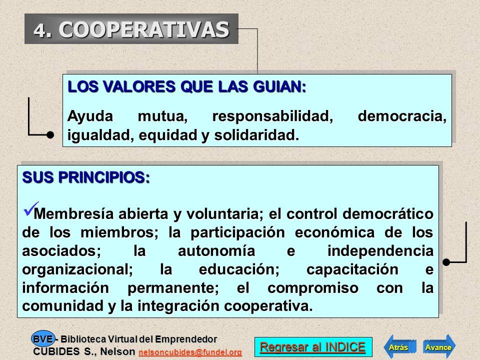 4. COOPERATIVAS LOS VALORES QUE LAS GUIAN: