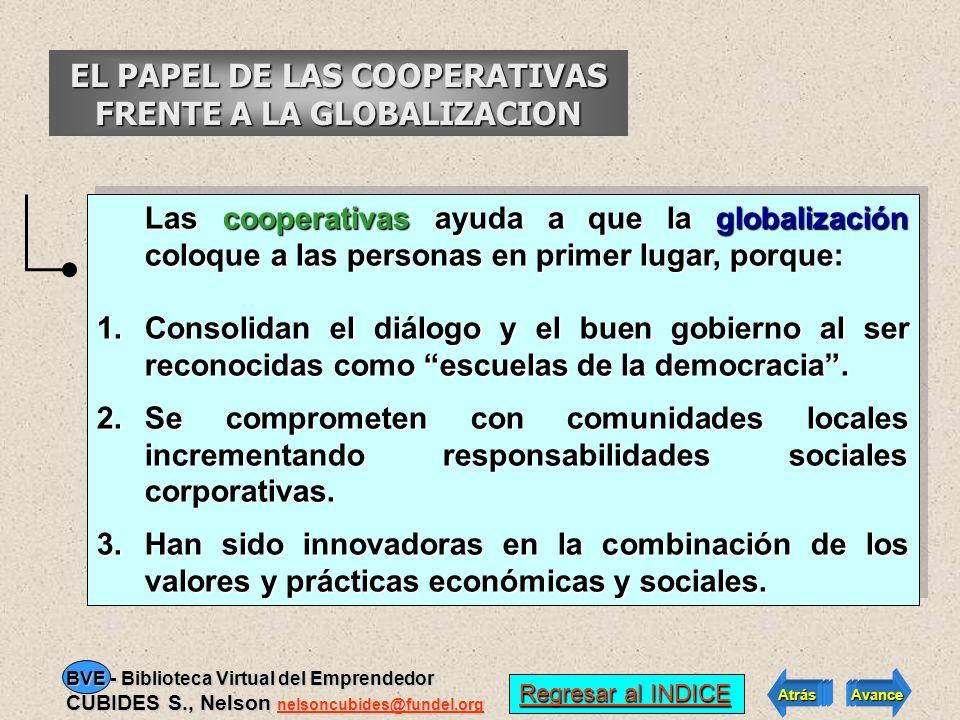 EL PAPEL DE LAS COOPERATIVAS FRENTE A LA GLOBALIZACION