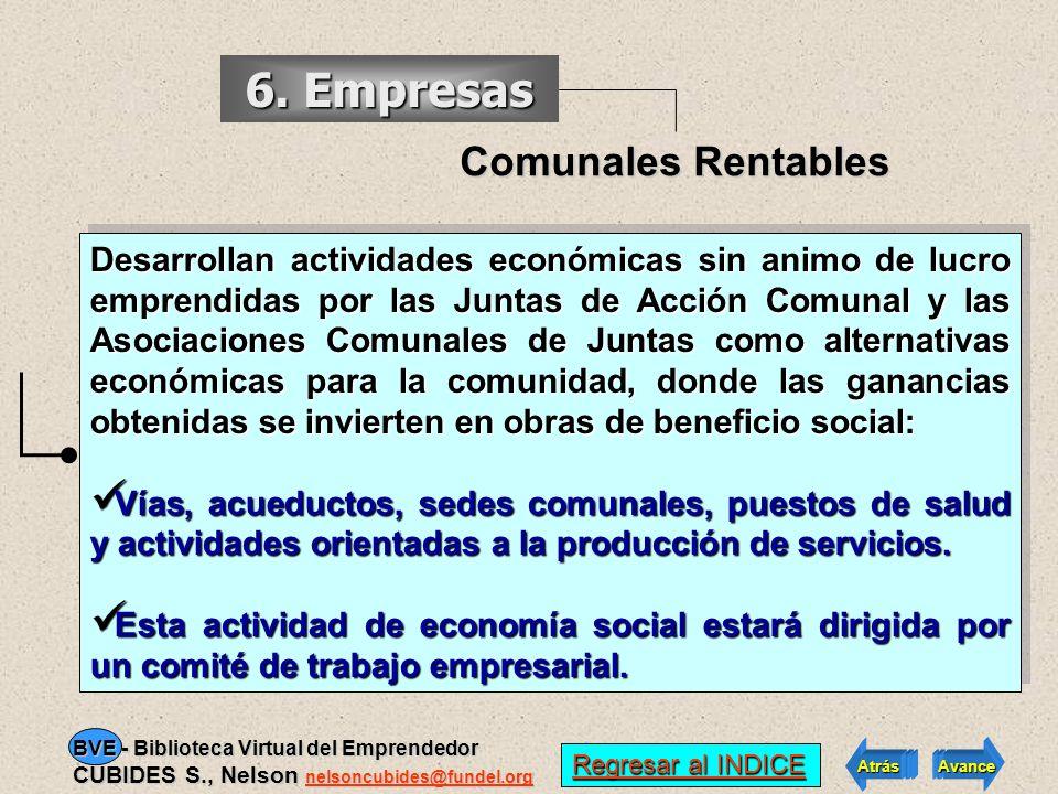 6. Empresas Comunales Rentables