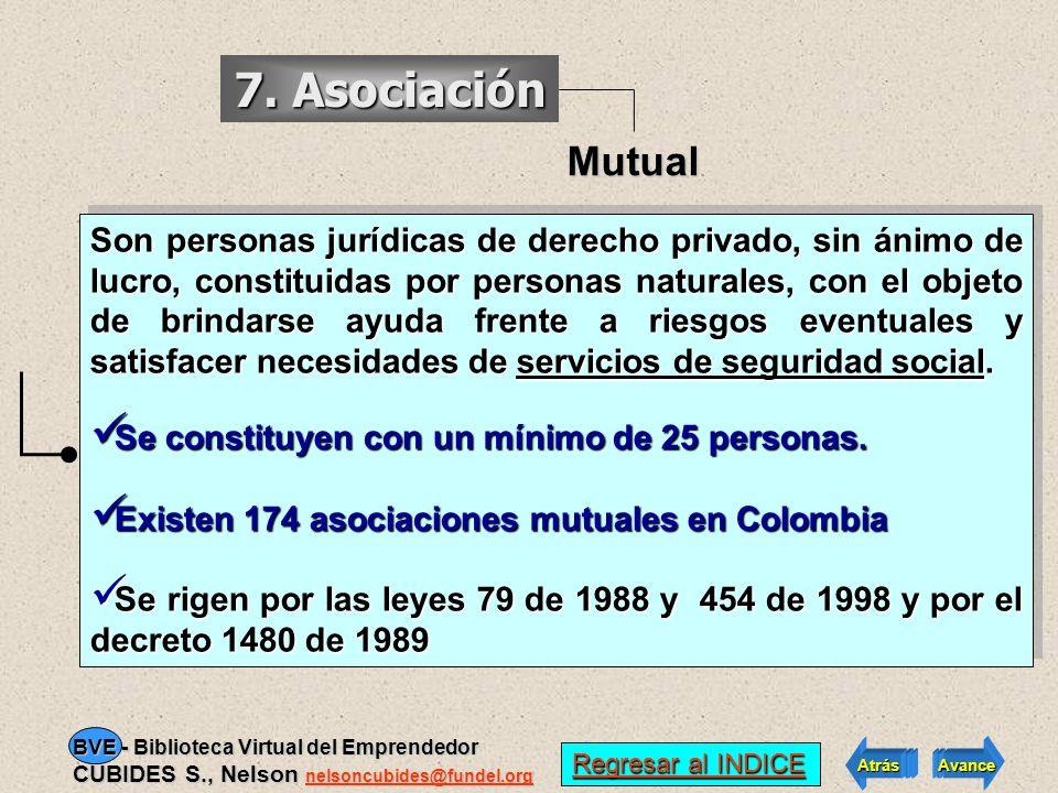 7. Asociación Mutual.