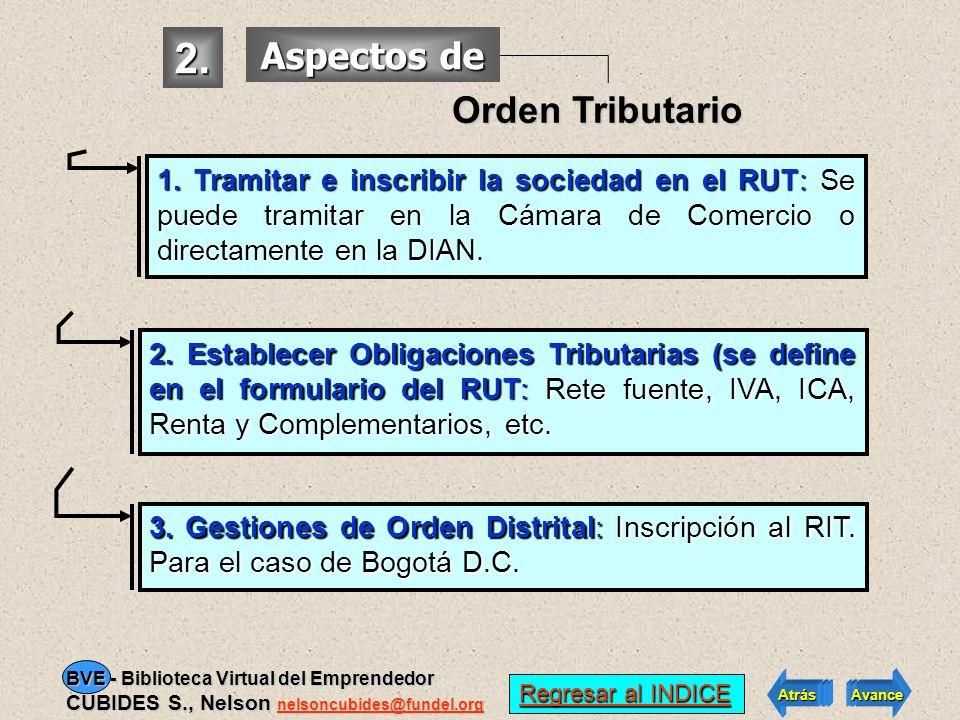 2. Aspectos de Orden Tributario