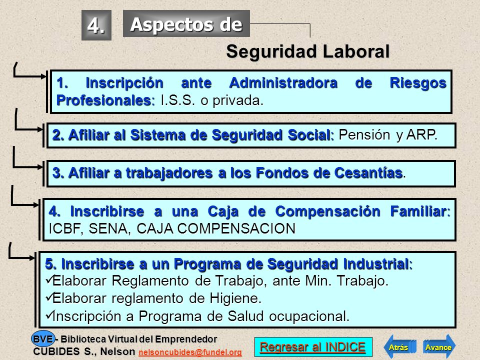 4. Aspectos de Seguridad Laboral