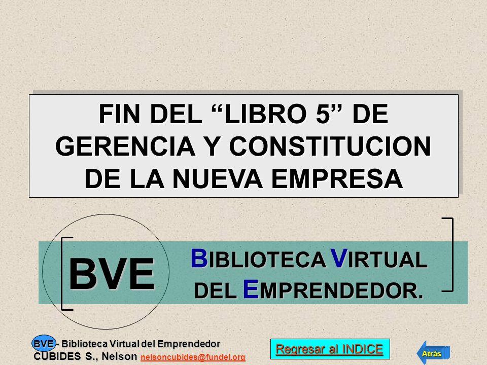 BVE FIN DEL LIBRO 5 DE GERENCIA Y CONSTITUCION DE LA NUEVA EMPRESA