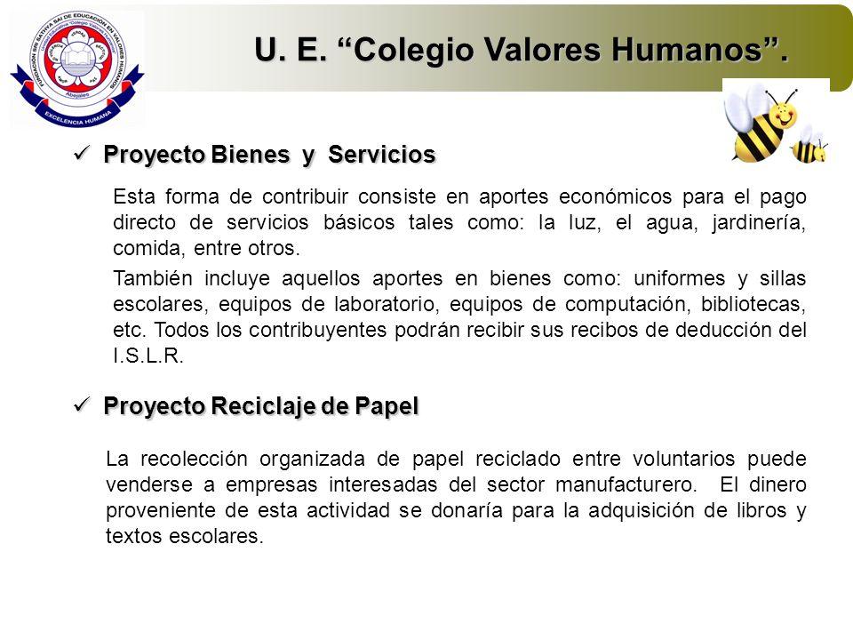 U. E. Colegio Valores Humanos .
