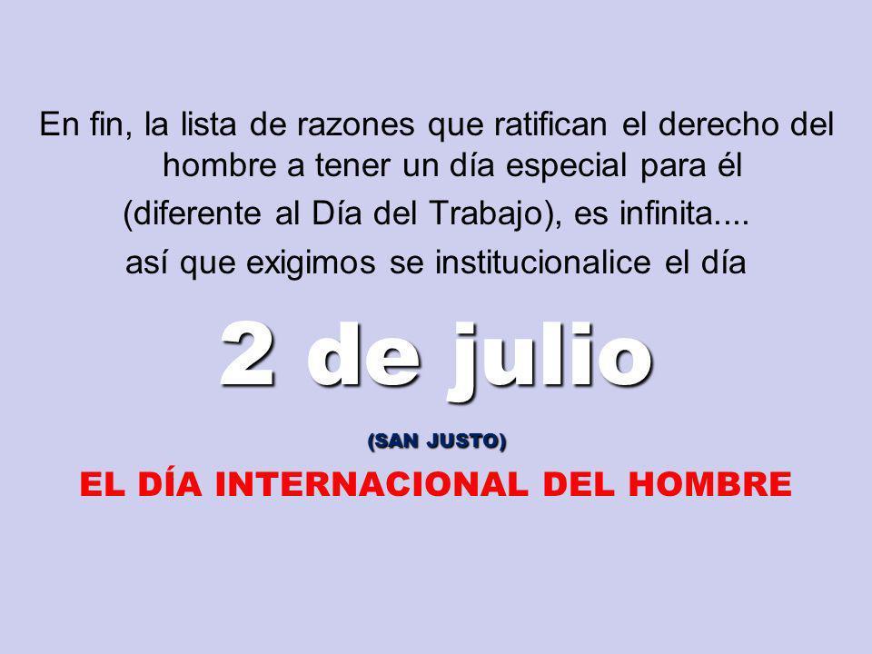 EL DÍA INTERNACIONAL DEL HOMBRE