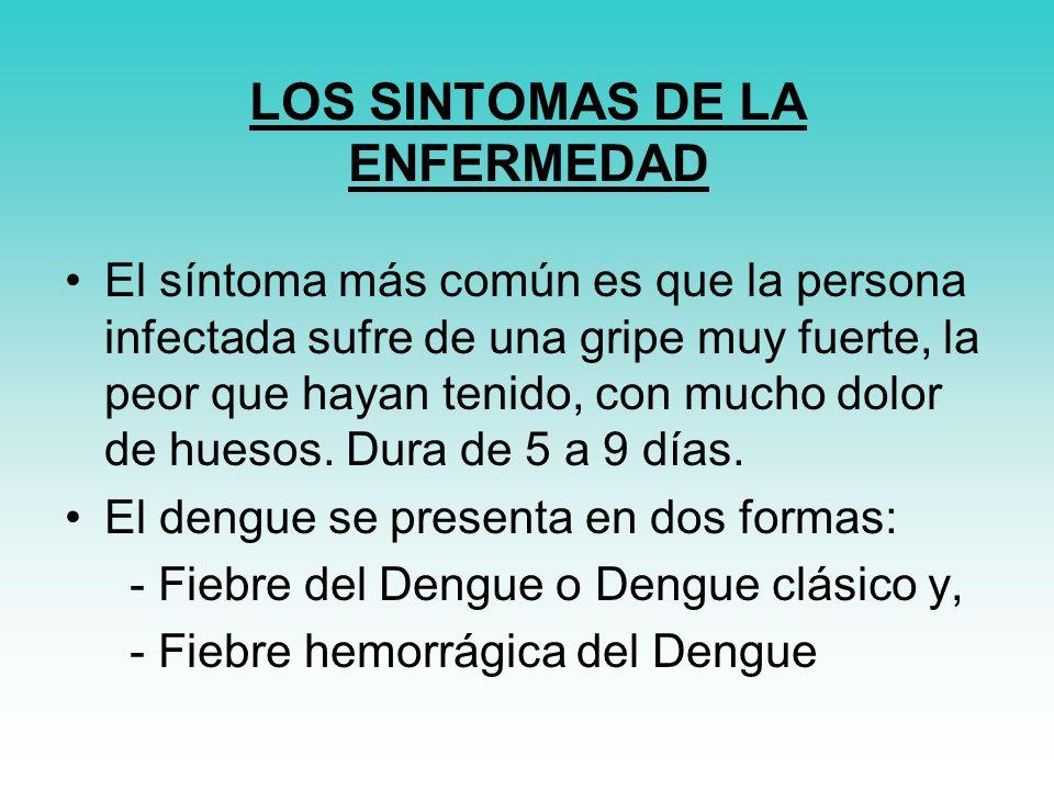 LOS SINTOMAS DE LA ENFERMEDAD