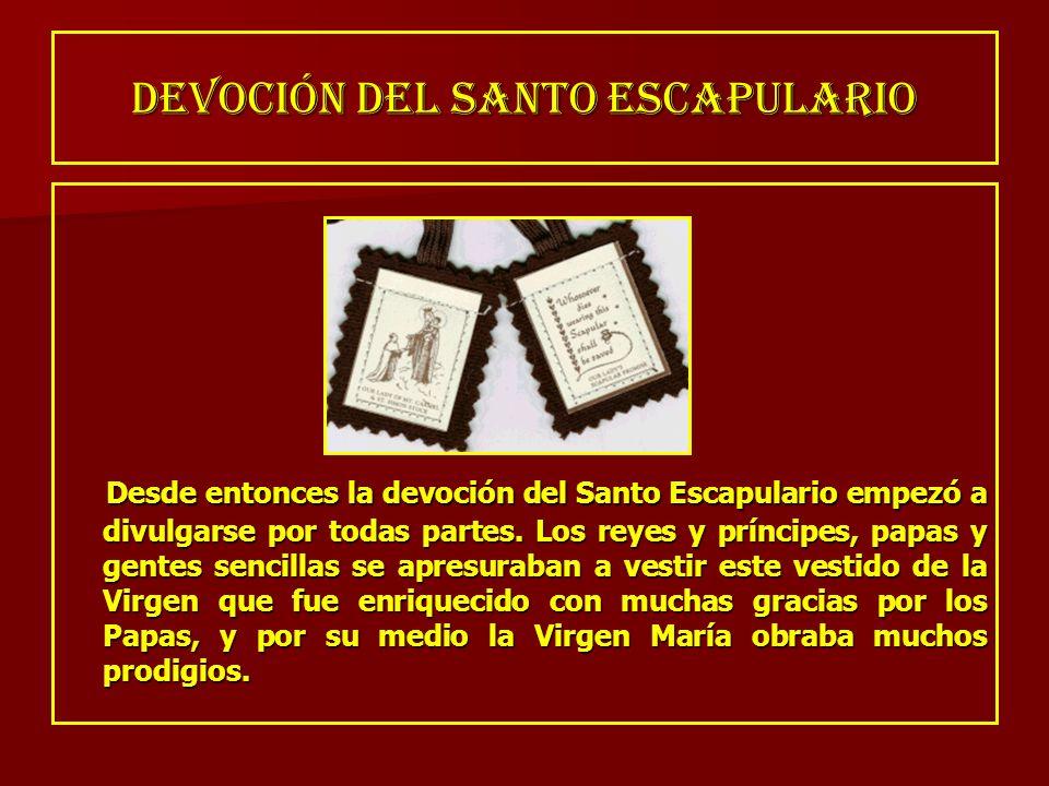 DEVOCIÓN DEL SANTO ESCAPULARIO