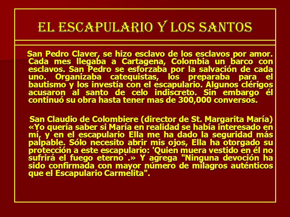 EL ESCAPULARIO Y LOS SANTOS