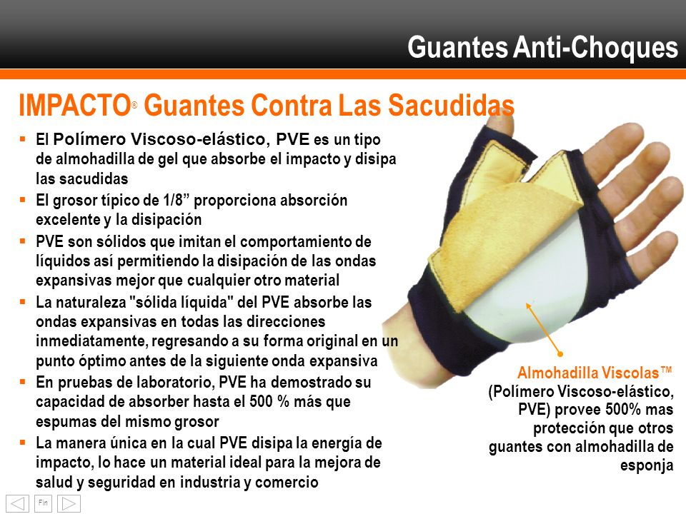 IMPACTO® Guantes Contra Las Sacudidas