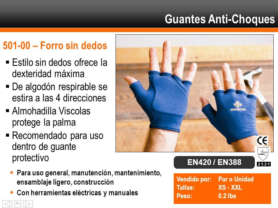Guantes Anti-Choques 501-00 – Forro sin dedos