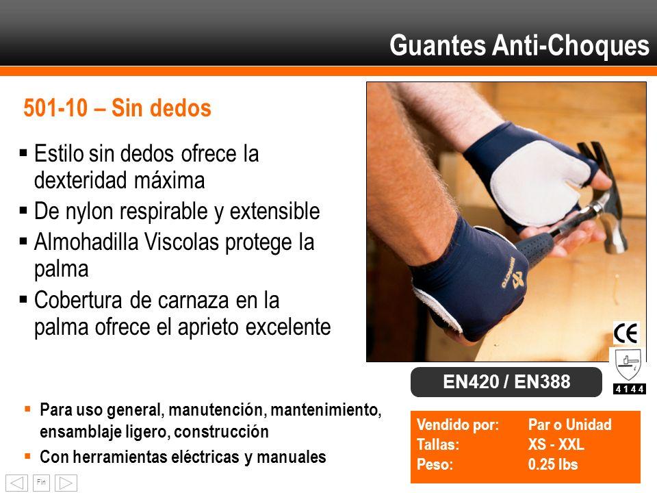 Guantes Anti-Choques 501-10 – Sin dedos