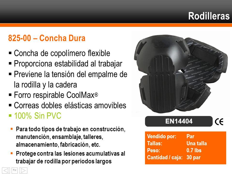 Rodilleras 825-00 – Concha Dura Concha de copolímero flexible