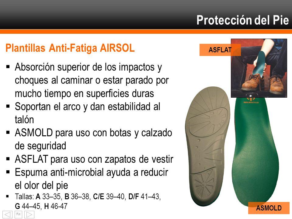 Protección del Pie Plantillas Anti-Fatiga AIRSOL