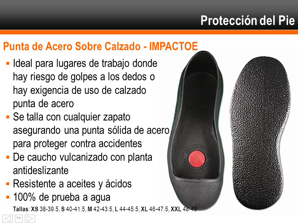 Protección del Pie Punta de Acero Sobre Calzado - IMPACTOE