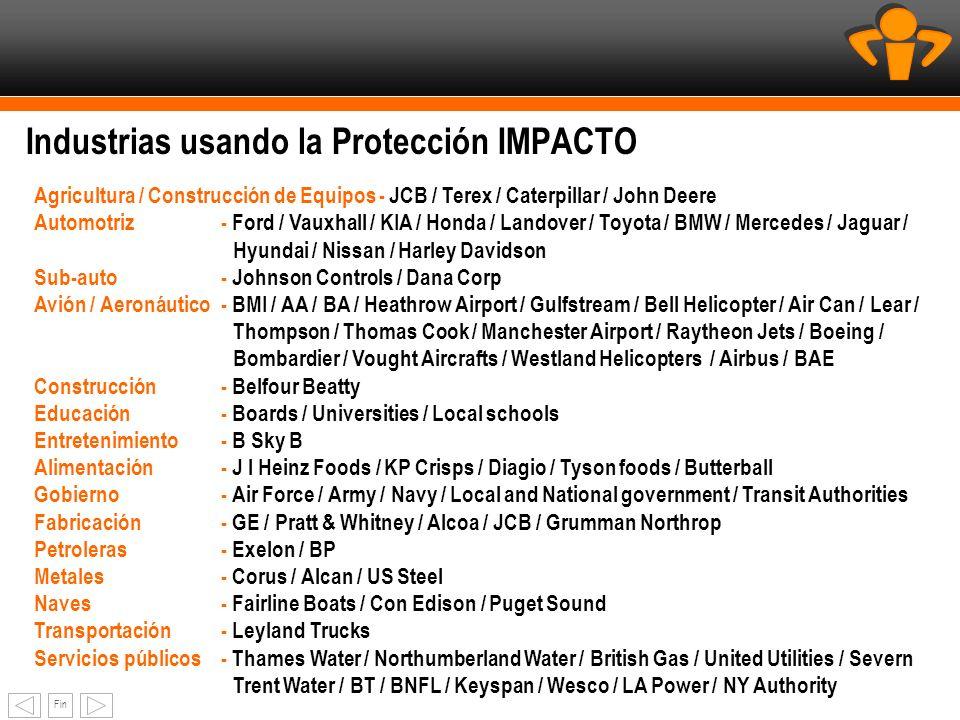 Industrias usando la Protección IMPACTO