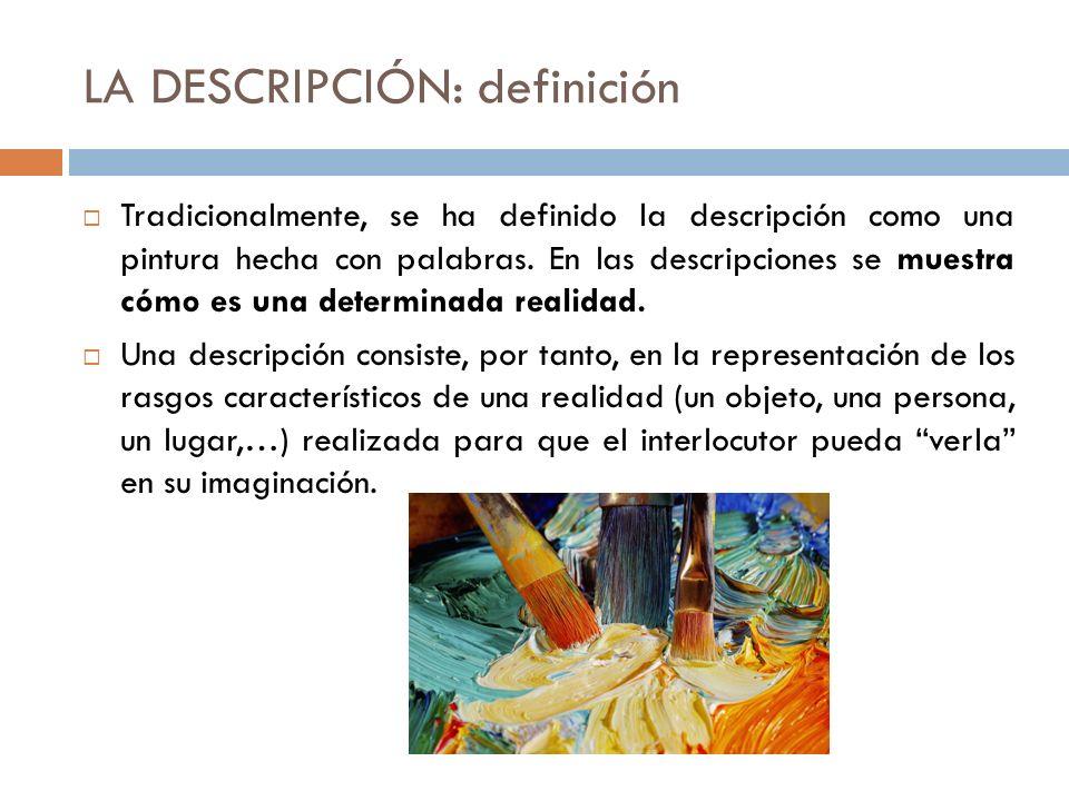 LA DESCRIPCIÓN: definición