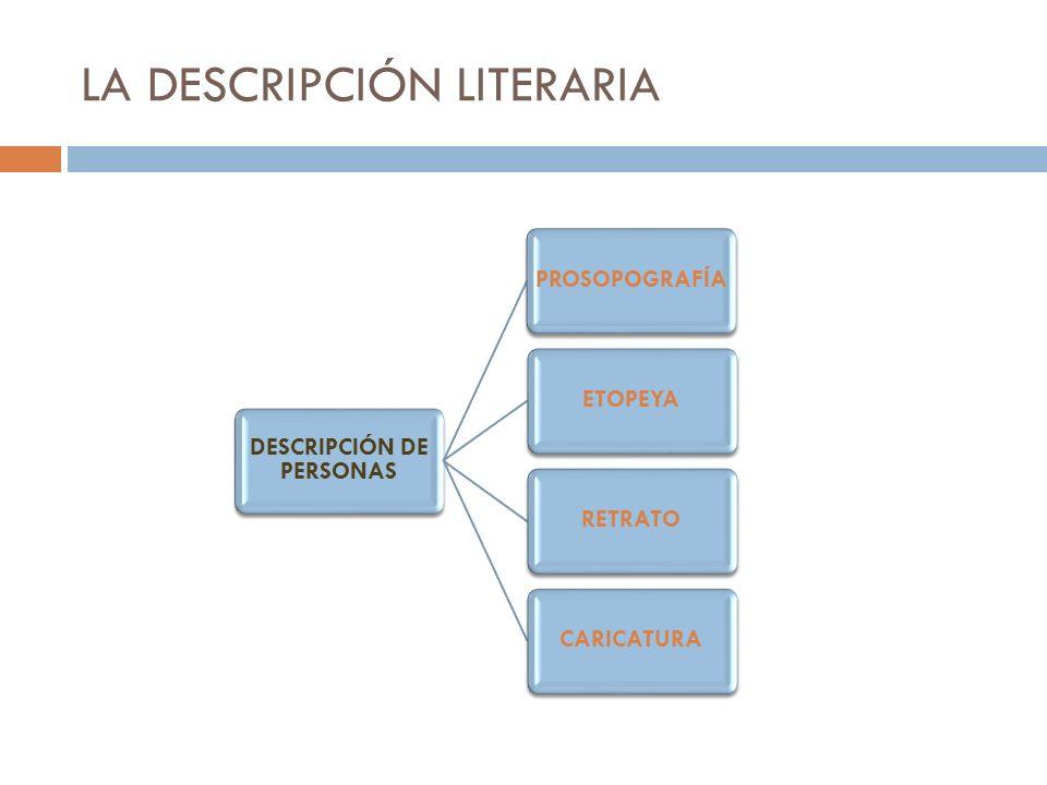 LA DESCRIPCIÓN LITERARIA