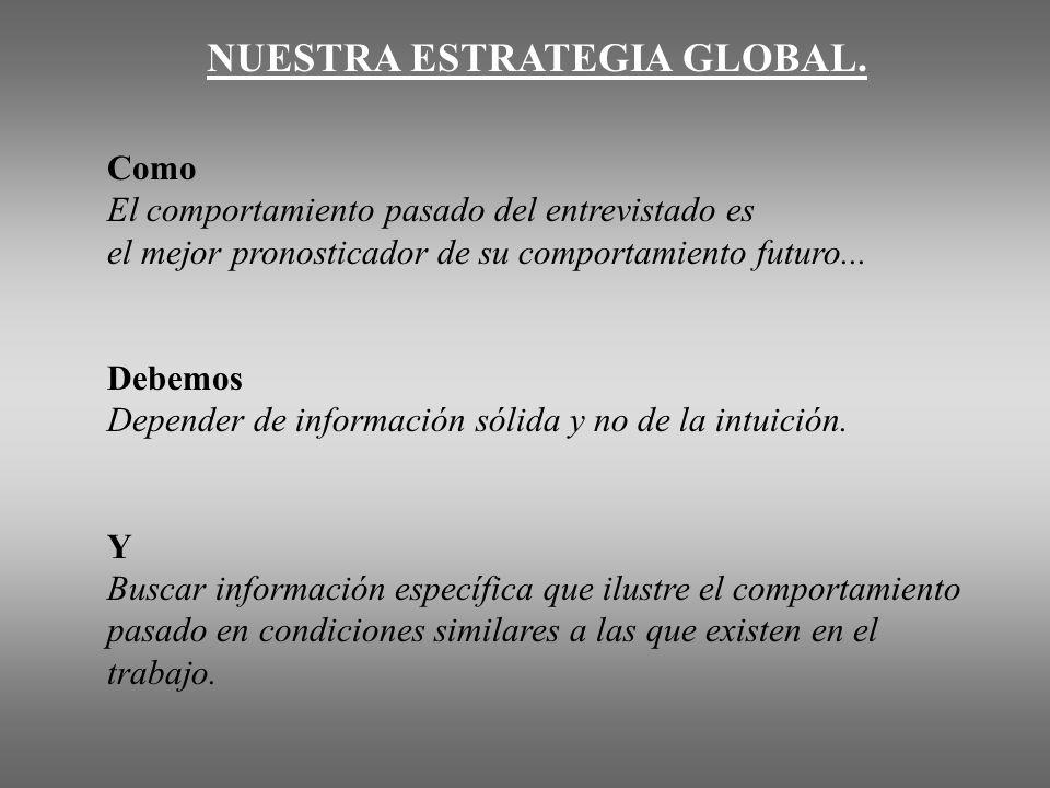 NUESTRA ESTRATEGIA GLOBAL.
