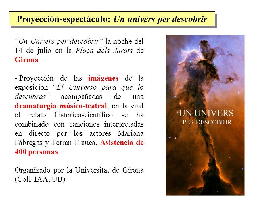 Proyección-espectáculo: Un univers per descobrir