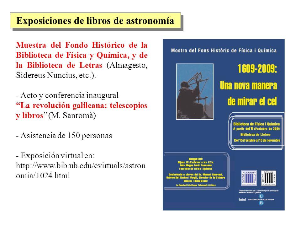 Exposiciones de libros de astronomía