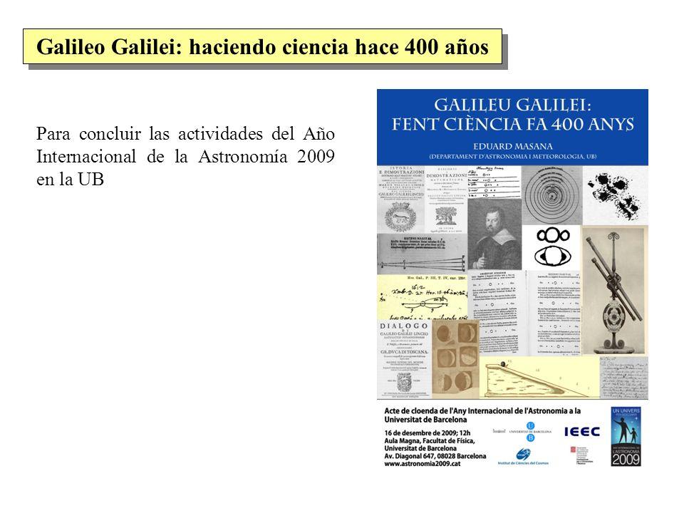 Galileo Galilei: haciendo ciencia hace 400 años
