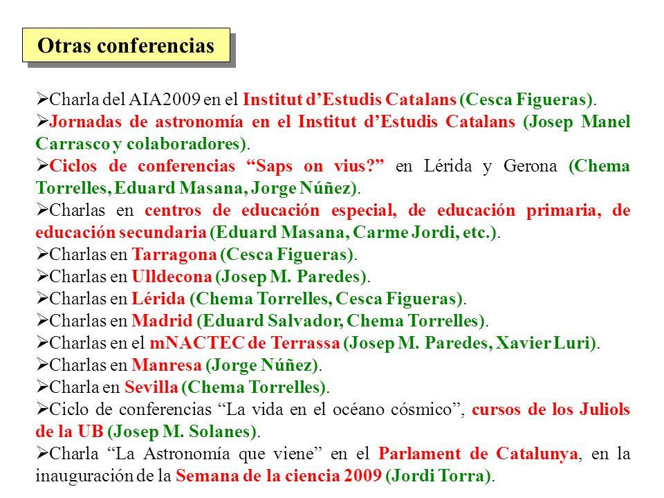 Otras conferencias Charla del AIA2009 en el Institut d'Estudis Catalans (Cesca Figueras).