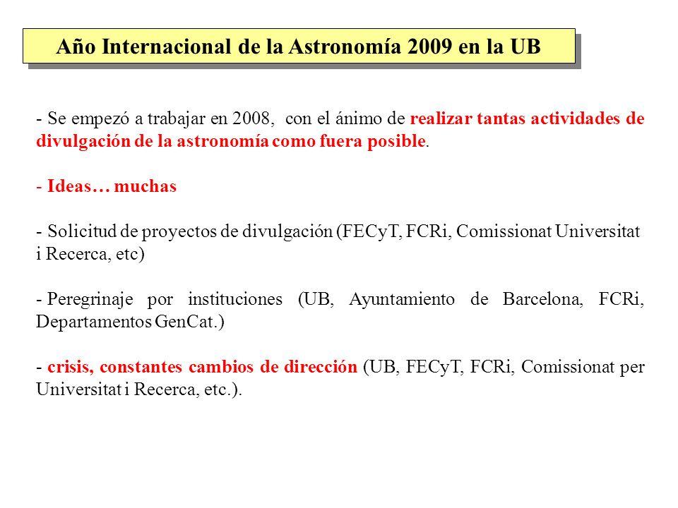 Año Internacional de la Astronomía 2009 en la UB