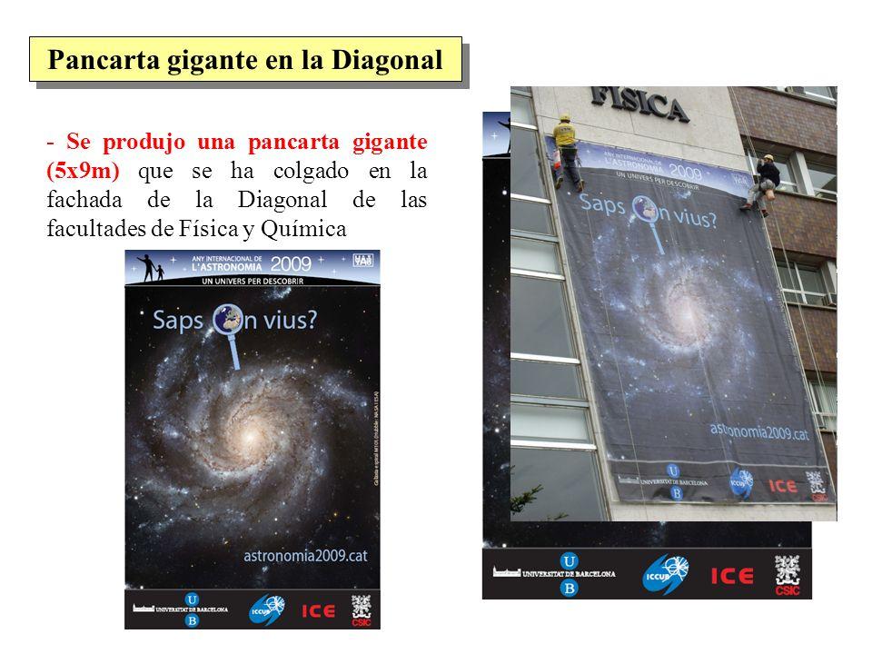 Pancarta gigante en la Diagonal