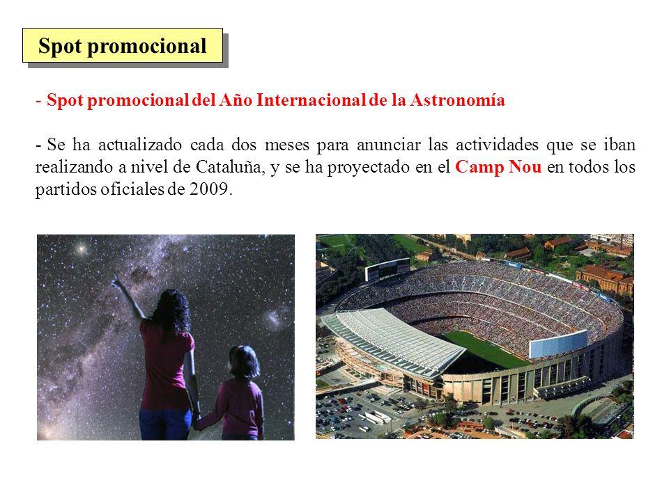 Spot promocional Spot promocional del Año Internacional de la Astronomía.