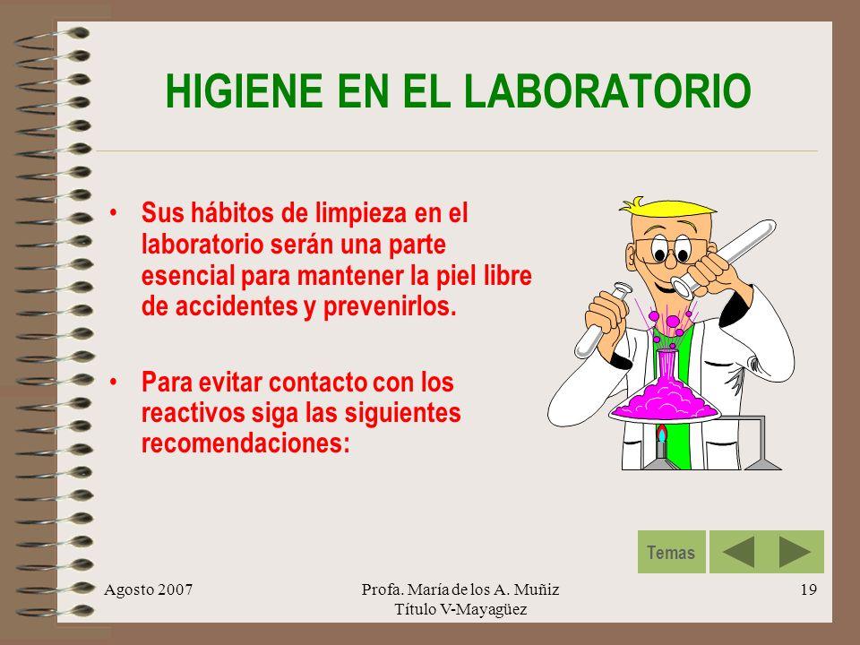 HIGIENE EN EL LABORATORIO