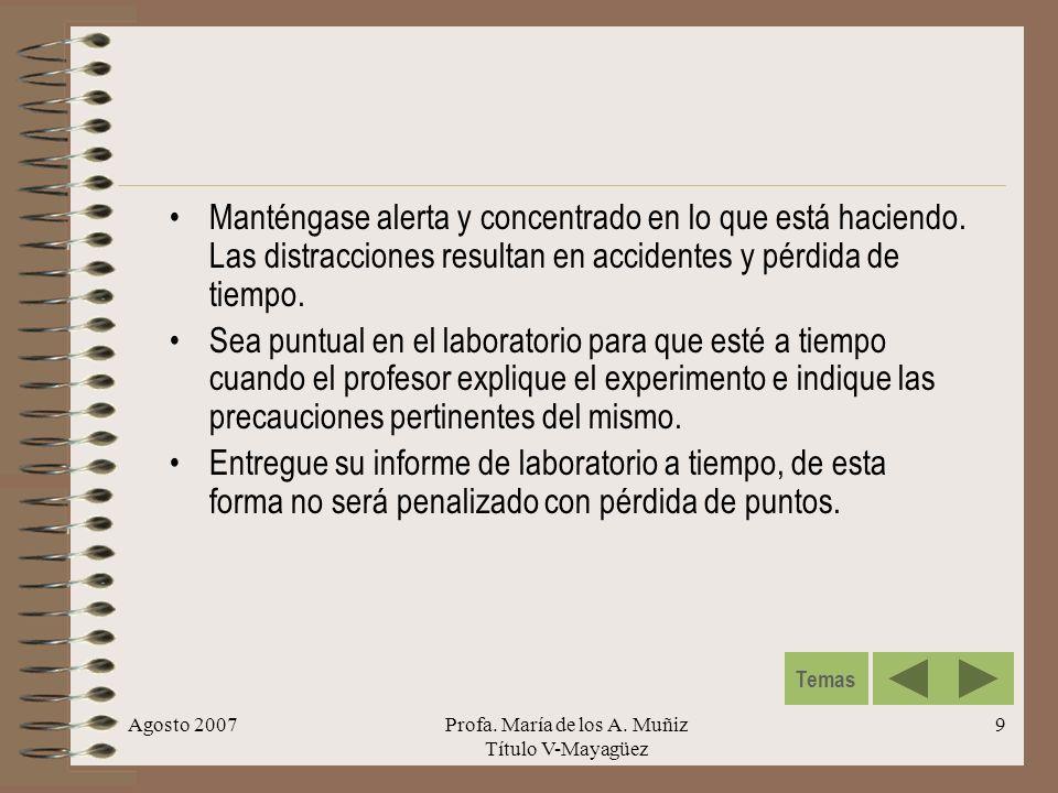 Profa. María de los A. Muñiz Título V-Mayagüez
