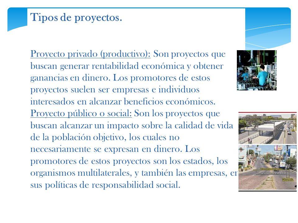 Tipos de proyectos.